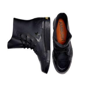 Size 7.5 Converse x Ambush Black Pro Leather Boots